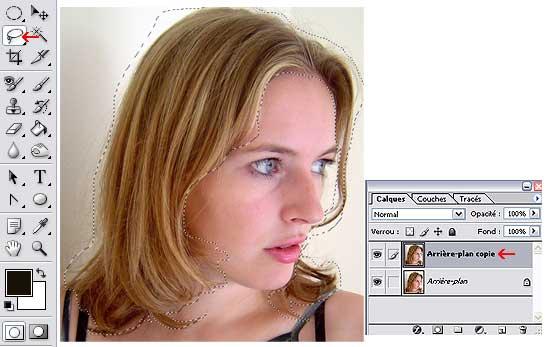 Changer de couleur de cheveux avec une photo